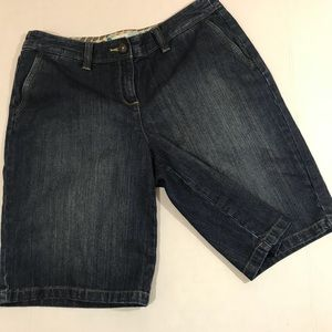 Boden Stretch denim Bermuda shorts